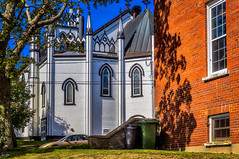 The Old Church (Kev Walker ¦ 7 Million Views..Thank You) Tags: bluenose boats building canada canon1855mm canon700d clouds colonialsettlement colorfull digitalart fairhavenpeninsula hdr historic lunenburg novascotia panorama panoramic picturesque postprocessing ship town water waterfront worldheritagesite