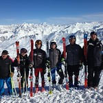 U16's from Big White, Red Mountain and Black Dogs Ski Club training in Tignes, France - Mike Koper (Black Dogs), Lauren Koper (Black Dogs), Heiko Ihns (Red Mountain), Kristof Panke (Red Mountain), Luke McMillan (Big White), Mike Osatiuk (Red Mountain)
