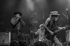 Ollie Dogg (harmonica), Zack Murphy (drums, percussion) and Matthew Paige (vocals, guitar) - Blackfoot Gypsies (samarrakaton) Tags: rock rb antzoki 2017 banda concierto live directo guitarra guitar nikon d750 bilbao band byn bw blancoynegro blackwhite monocromo