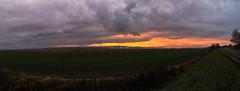 Reddy Sunset over the Factory [5 pic panorama] (gabormatesz) Tags: múcsony borsodabaújzemplén hungary hu canon canon80d panorama sunset landscape clouds cloudscape cloudy redsunset autumn photography