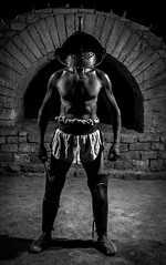 Gladiator (Pierre de Champs) Tags: arles arenes gladiator portrait cinema photo blackandwhite lesrencontresdelaphoto 2017 nikonphotography nikon d750