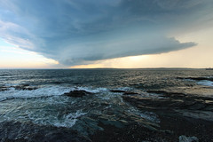 Newport Harbor Storm (russ david) Tags: newport harbor storm rhode island ri clouds june 2017 waves ocean ave