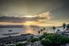 Heavenly Light @Sea of Galilee (kcchoy60) Tags: sea galilee israel 2017 sony a7 hdr photomatix sunrise clouds burst light boats