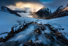 Gold Rush (Dylan Toh) Tags: nisifilters alpine aotearoa dawn dylantoh everlooklandscapephotography hikingtrekking jetty lakeangelus lakerotoiti nationalpark nelsonlakes newzealand river snow starnaud sunrise winter