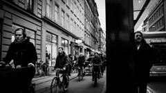 Bus stop (kbj102) Tags: bus stop bustop copenhagen nørrebor waiting black white bike biking bikes herlev 5c movia