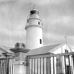 Capdepera Lighthouse (ucn) Tags: filmdev:recipe=11610 rolleirpx100 agfastudional film:brand=rollei film:name=rolleirpx100 film:iso=100 developer:brand=agfa developer:name=agfastudional tessar weltaweltax mallorca leuchtturm lighthouse