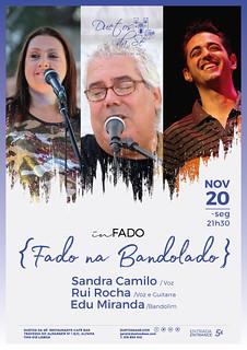 CONCERTO IN FADO - Duetos da Sé - Alfama Lisboa - SEGUNDA-FEIRA 20 NOVEMBRO 2017 - 21h30 - Fado Bandolado - Sandra Camilo - Rui Rocha - Edu Miranda