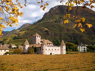 Schloss Maretsch in den Weinreben