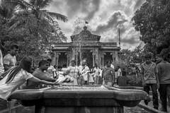 Washed Flowers for the Buddha at Kelaniya, Colombo, Srilanka (Anoop Negi) Tags: colombo srilanka buddhism flower kelaniya stupa vihara photo photography anop negi ezee123 religion wash bnw black white monochrome