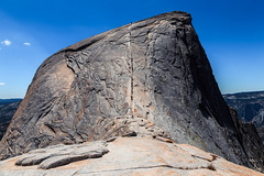 The Approach to Half Dome (Bartfett) Tags: half dome yosemite national park california cables hiking hikers side rock mountain granite trail mist sierra nevada imposing summit top