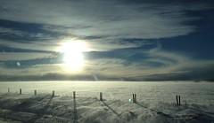 Snow Blown Shadowing .. (Mr. Happy Face - Peace :)) Tags: fence art2017 winterwonderland sun albertabound cans2s canada150 hss sunday autumn fall naturelover alberta canada cochrane