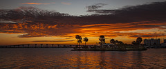 What a difference a day makes (mimsjodi) Tags: indianriverlagoon sunrise colors titusvillefl marina bird