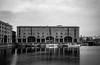 FILM - Albert Dock (fishyfish_arcade) Tags: analogphotography bw blackwhite blackandwhite filmphotography filmisnotdead istillshootfilm kodaktmax400 monochrome olympus35rc analogcamera mono liverpool albertdock boats