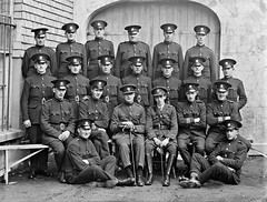 Civic Guards Wexford, group (National Library of Ireland on The Commons) Tags: ahpoole arthurhenripoole poolecollection glassnegative nationallibraryofireland civicguards wexford ireland cowexford policemen officers stripes sergeants cuffs caps gaiters leggings leather badges unarmed gardasíochána explore gate pioneerpin officer