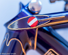 Frame Detail (M C Smith) Tags: reynolds 531 blue gold red white cycling frame pentax k1 badge chrome sticker lugs