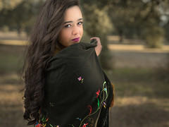 Barbara  081217-8642 (Eduardo Estéllez) Tags: beautiful woman shawl style embroidery young portrait brunette black costume embroidered red clothing scarf beauty people female girl decoration caucasian attractive fashion background ornament traditional culture tradition flowers shirt outdoor floral motifs spanish countryside landscape nature look pretty montehermoso extremadura spain barbara estellez eduardoestellez