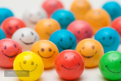 Smiley Face Gum Balls (amycicconi) Tags: alot aligned alignment ball balls bubblegum candy colorful colors crowd face group gumball gumballs line orderly rainbox row shallowdepthoffield smile smileyface sweet sweets