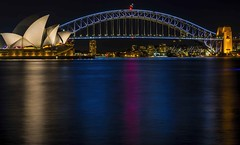 Sydney Opera House & Harbour Bridge by night (Victor Wong (sfe-co2)) Tags: architecture aussie australia australian bay bridge building city cityscape colorful colors destination dusk evening famous harbor harbour highresolution historic holiday icon landmark landscape lights longexposure monument new newsouthwales night nightshot nsw opera operahouse reflection scenic sea sky skyline skyscraper south sydney symbol timeexposure tourism travel urban view wales water