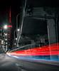 Like a Flash (Paul Flynn (Toronto)) Tags: toronto gardiner express way expressway highway lakeshore road street car vehicle trail light lights overpass bridge cn tower city downtown urban