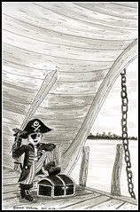 Pirate (mmoborg) Tags: mmoborg inktober inktober2017 ink drawing