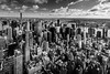 Manhattan from the Empire (Sergio Pappalardo) Tags: manhattan newyork bn bw skyline grattacielo grattacieli skyscraper skyscrapers panorama landscape cityscape fiume river hudson empire crysler