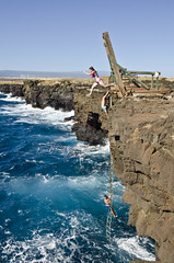 Cliff Jumping at Ka Lae (EnviroTrekker) Tags: hawaii bigisland winter pacific ocean kalae southermostpointinus southpoint cliffdiving