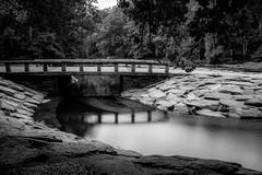 Pedestrian Bridge Reflections ©2017 Steven Karp (kartofish) Tags: reflections water extendedexposure blackandwhite fuji fujifilm xt1 neshaminycreek tylerstatepark pennsylvania buckscounty longexposure swirlingwater pedestrianbridge