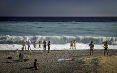 Nouvelle vague (polfanice) Tags: bronze beach plage nice méditerranée save vague sea mer