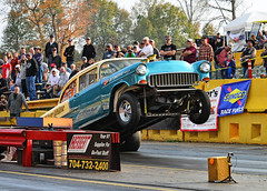 The Widow Maker (Thumpr455) Tags: southeastgassers finals shadysidedragway shelby nc october 2017 nikon d800 autoracing motorracing auto automobile worldcars action sport speed chevy chevrolet widowmaker wheelie wheelstand afnikkor3570mmf28d 1955 twotone post coupe sunoco afnikkor70200mmf28vrii jpautomotive cgasser cgas cg