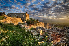 Castle of Coastal Astros (Dimitil) Tags: coastalastros pelloponisos greece astros kynouria arkadia castle history historicalplace sunset hellas clouds dramaticsky