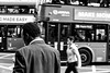 MADE EASY (Ruben H. Pinilla) Tags: nikon d750 nikond750 tamronsp2470mmf28divcusd rubenhpinilla blackandwhite bw mono monochrome street streetphoto streetphotography candid backwards man woman bus london england mobile moving reflection
