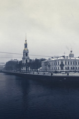 Winter is coming (Apercoat) Tags: bell tower nicholas cathedral winter snow spb saint river channel petersburg