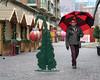 Top heavy (BruceK) Tags: toronto distillerychristmasmarket umbrellas xmas