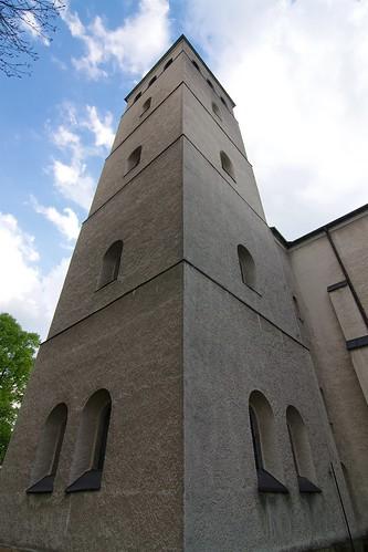 Wieża nowego kościoła w Haczowie