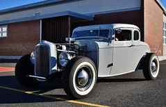 """1932 Ford 5-window coupe """"Hot Rod"""" (Custom_Cab) Tags: 1932 ford 5window 5 window coupe hot rod street custom blue car deuce"""