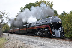 """Spirit of Roanoke"" NS 956 (N&W Class J 4-8-4 611) 10/9/17 (tjtrainz) Tags: ns norfolk southern 956 nw western class j 484 611 spirit roanoke piedmont division danville district priddy reidsville nc north carolina steam engine"