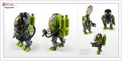 Raptor series: Tequilatron powersuit (Brixnspace) Tags: raptor walker frame powersuit suit lego moc toy lime salts tequila tequilatron biped