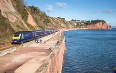 scant consolation..... (Rails West) Tags: 125 devon fgw125 locations spreypoint teignmouth seawall