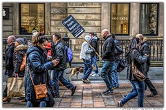 Look Sign Walker (Gordon McCallum) Tags: looksignwalker signwalker advertisement applestore buchannansteet glasgow christmasshopping streetscene sony sonya6000 scotland sigma30mm114contemporarylens