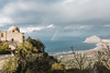 Rainbows on Top of Erice (expatexplode) Tags: rainbow blue sea erice italy sicily architecture italian ocean mountains landscape