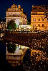 Smetana Museum Reflection (martintimmann) Tags: lights sonya7r2 availablelight e voigtlander reflection city longexposure reflexion nacht