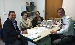 Visita no gabinete da presidente Associação de moradores do conjunto Atenas Elenir e Dona Iracema coordenadora da melhor idade