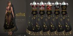 Glitter Lefevre Fitmesh Gown colors AD (Shine Messmer - Glitter Fashion & Glitter Poses & ) Tags: glitter lefevre fitmesh gown appliers