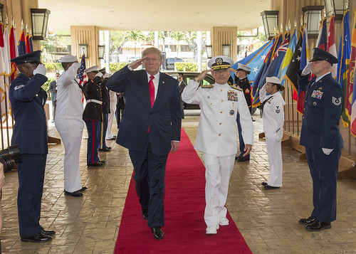 Arrival honors for President Trump, From FlickrPhotos