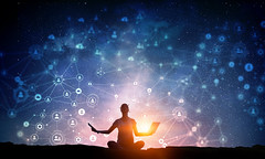 Radhaa of Goddess Code Academy (goddesscodeacademy) Tags: woman meditating yoga tablet laptop device connection 3drendering net web technology body relax silhouette nature meditation night starry sky rock edge calmness relaxation peace energy girl outdoors background health natural lotus fitness zen person landscape calm fit 3drender russianfederation