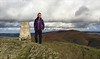 44 of 52 trig points (Ron Layters) Tags: 2017 ronlayters selfportrait 52trigpoints moelmorfydd trigpoint damaged llantysiliomountain cold wintry coldbutsunny windy hills bracken moelygamelan moelygaer hilly landscape maesyrchenmountain berwyns berwynmountains welshborders pillar tp4860 fbs3104 rhewl llangollen denbighshire clwyd wales cymru unitedkingdom 52weeks 52 phonecamera iphone apple appleiphone6 selftimer tripod 10secondtimer weekfortyfour week44 44 highestpositioninexplore86onmondaynovember62017 explore interesting explored 5k 10k