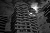 lune urbaine (Rudy Pilarski) Tags: moon lune france paris architecture architectura bw nb monochrome urban urbain urbano modern moderne