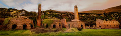 Porth Wen Brickworks Panorama (urfnick) Tags: purple ruins angelsey canon eos 1300d efs1018mm nature landscape factory cliffs clouds overgrown