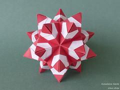 Kusudama Santa (irina_chisa) Tags: origami kusudama