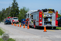 C-K Fire - Stn's 12 & 1, MVC, Doyle Line & Charing Cross Rd., 05/25/2016 (Front Page Photography / Hooks & Halligans) Tags: chathamkent ck chatham kent ontario canada mvc motor vehicle collision crash accident fire emergency service services dept department station stations 1 12 harwichnorth